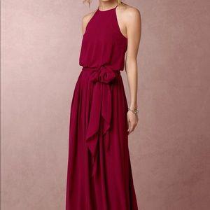 Donna Morgan bridesmaid dress in black cherry
